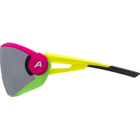 Alpina 5W1NG Q+CM Glasses pink/green/yellow